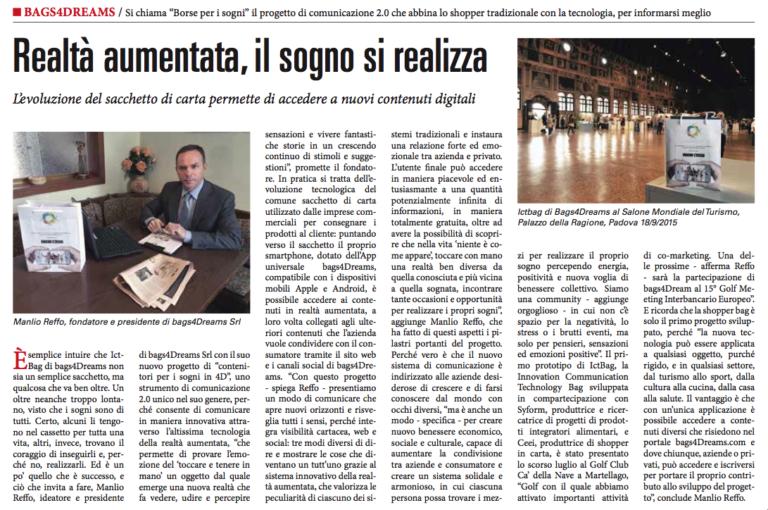 Read more about the article Sole 24 ore del 12 ottobre 2015